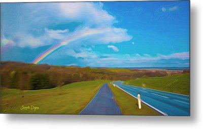 Path To Rainbow - Pa Metal Print by Leonardo Digenio