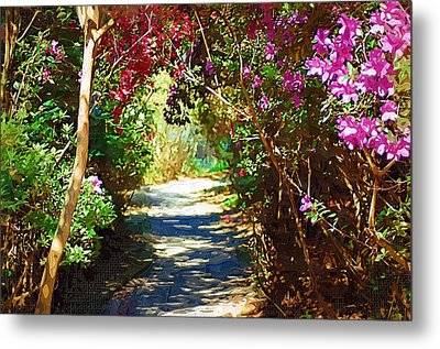 Metal Print featuring the digital art Path To The Gardens by Donna Bentley