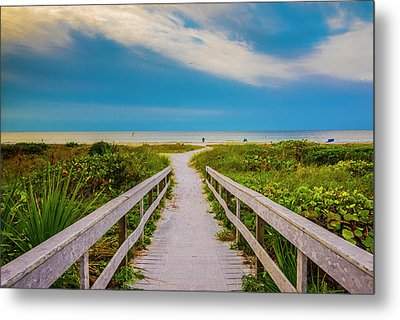 Metal Print featuring the photograph Path To The Sea by Steven Ainsworth