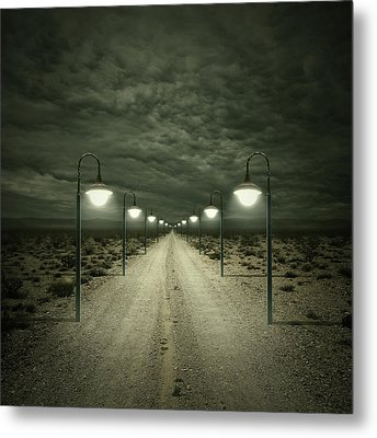Path Metal Print by Zoltan Toth
