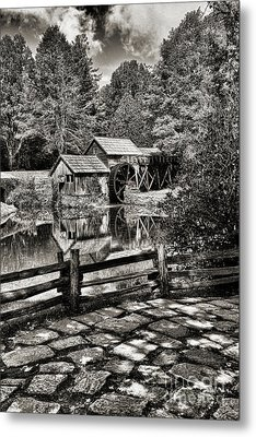Metal Print featuring the photograph Pathway To Marby Mill In Black And White by Paul Ward