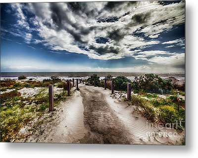 Metal Print featuring the photograph Pathway To The Beach by Douglas Barnard
