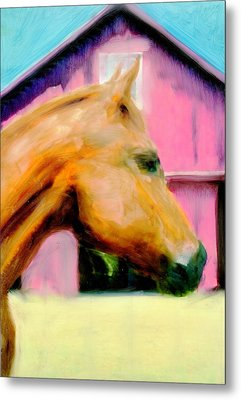 Metal Print featuring the painting Patience by FeatherStone Studio Julie A Miller