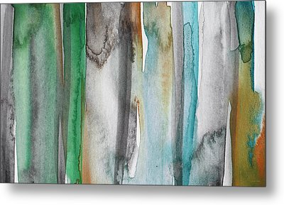 Patina- Abstract Art By Linda Woods Metal Print by Linda Woods