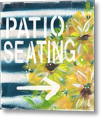 Patio Seating- By Linda Woods Metal Print