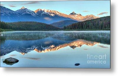 Patiricia Lake Sunrise Reflections Metal Print by Adam Jewell