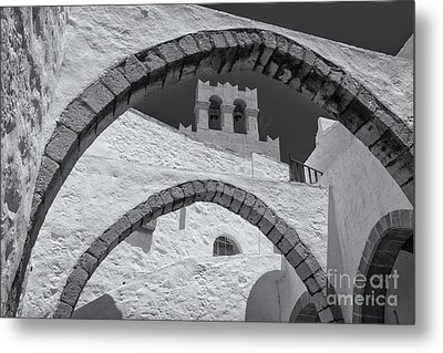 Patmos Monastery Arches Metal Print by Inge Johnsson