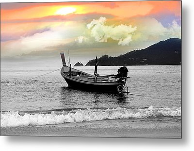 Patong Beach Metal Print by Mark Ashkenazi