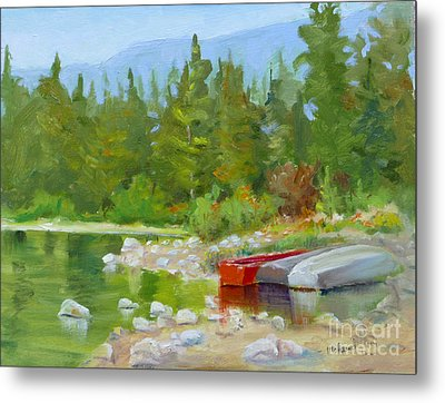 Patricia Lake, Jasper Metal Print by Mohamed Hirji