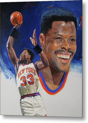 Patrick Ewing Metal Print by Cliff Spohn