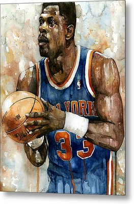 Patrick Ewing Metal Print by Michael  Pattison