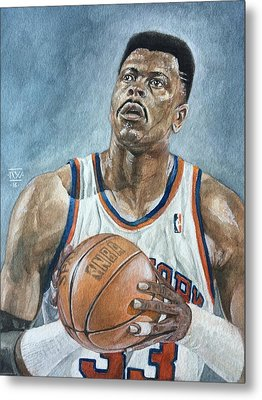 Patrick Ewing Metal Print by Nigel Wynter