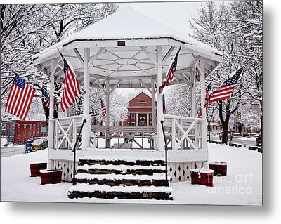 Patriotic Bandstand Metal Print by Susan Cole Kelly