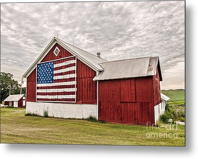 Patriotic Barn Metal Print by Trey Foerster