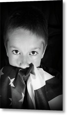 Patriotic Boy Metal Print