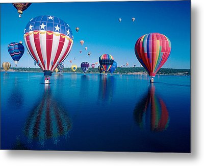 Patriotic Hot Air Balloon Metal Print by Jerry McElroy
