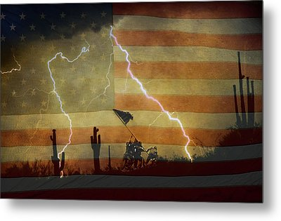 Patriotic Operation Desert Storm Metal Print by James BO  Insogna