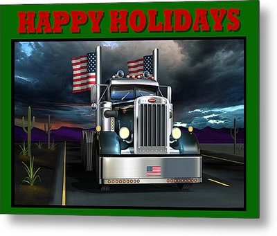 Patriotic Pete Happy Holidays Metal Print by Stuart Swartz