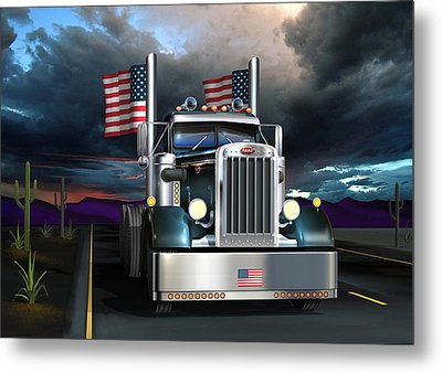 Patriotic Pete Metal Print by Stuart Swartz