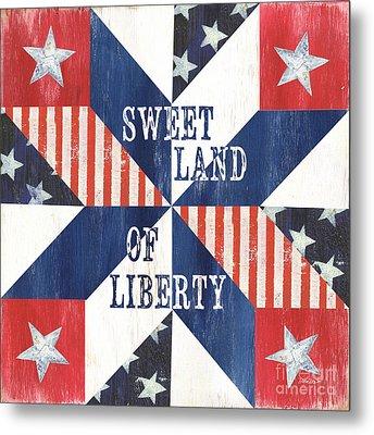 Patriotic Quilt 3 Metal Print