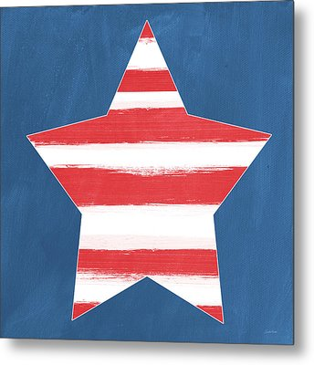 Patriotic Star Metal Print by Linda Woods