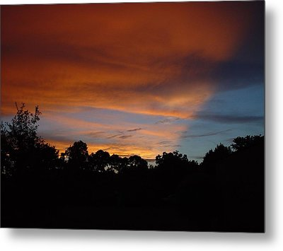 Metal Print featuring the photograph Patriotic Sunset by Kerry Beverly