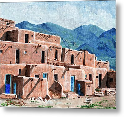 Patrolling The Pueblo Metal Print by Timithy L Gordon