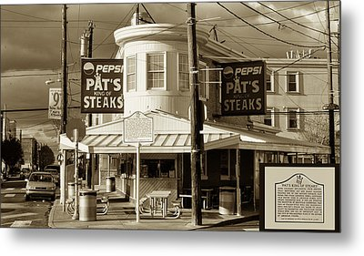 Pat's King Of Steaks - Philadelphia Metal Print by Bill Cannon