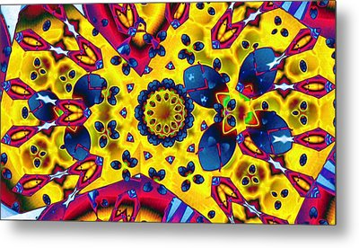 Pattern 2 Intersect Metal Print by Ron Bissett