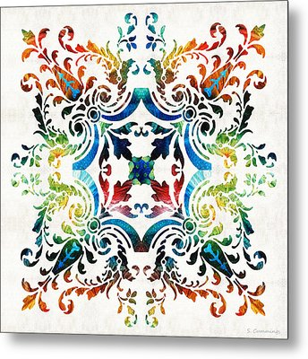 Pattern Art - Color Fusion Design 7 By Sharon Cummings Metal Print