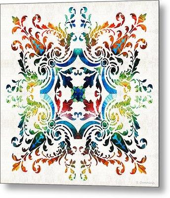 Pattern Art - Color Fusion Design 7 By Sharon Cummings Metal Print by Sharon Cummings