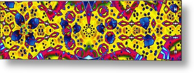 Pattern Intersect Metal Print by Ron Bissett