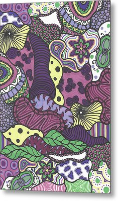 Pattern Jungle Metal Print