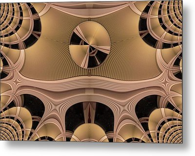 Metal Print featuring the digital art Pattern by Ron Bissett