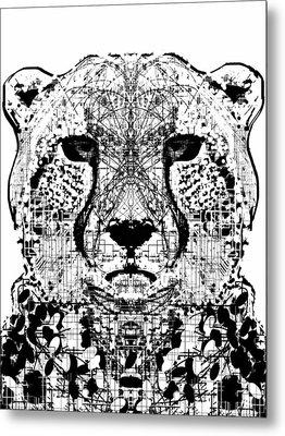 Patterned Cheetah Metal Print by Harold Belarmino