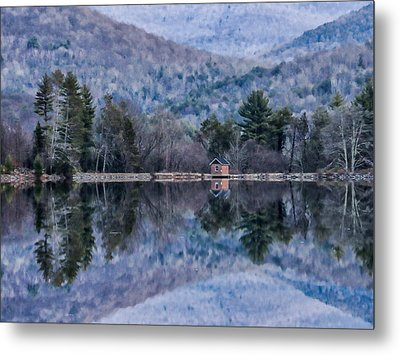 Patterns And Reflections At The Lake Metal Print