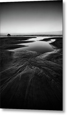 Metal Print featuring the photograph Patterns In The Sand by Jon Glaser