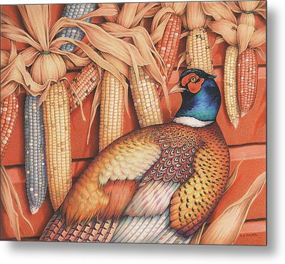 Patterns Of Indian Summer Metal Print by Amy S Turner