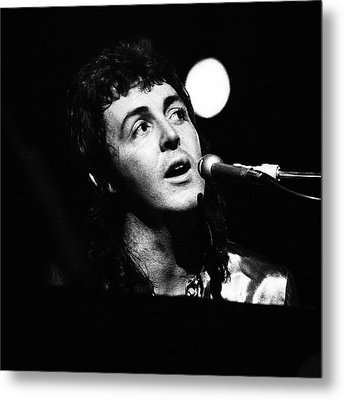 Metal Print featuring the photograph Paul Mccartney 1973 Square by Chris Walter