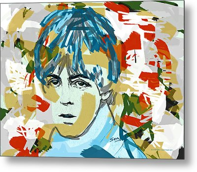 Paul Mccartney Metal Print by Suzanne Gee