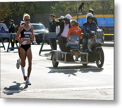 Paula Radcliffe 2007 Ing Nyc Marathon 2 Metal Print by Terry Cork