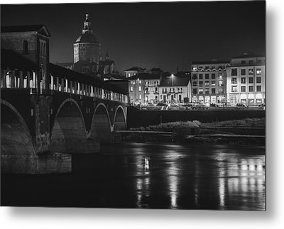Pavia At Night Metal Print