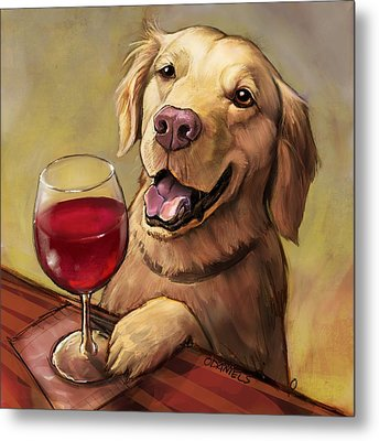 Paw'n For Wine Metal Print by Sean ODaniels