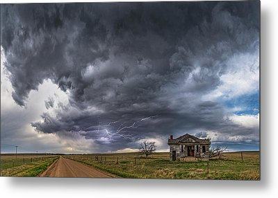 Pawnee School Storm Metal Print by Darren White