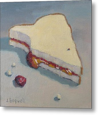 Metal Print featuring the painting Pb And J With Cumbs by Jennifer Boswell
