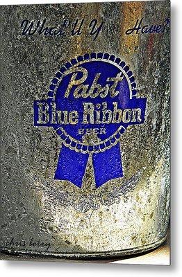 Pbr  Bucket O Beer  Metal Print by Chris Berry