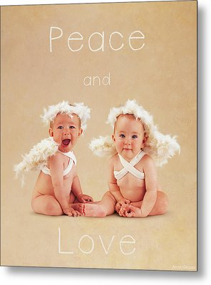 Peace And Love Metal Print by Anne Geddes