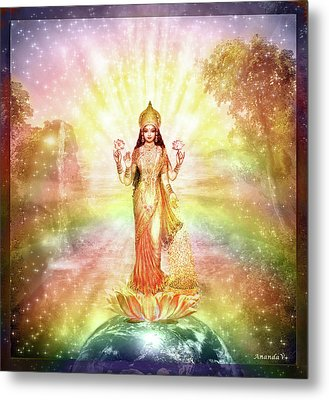 Peace And Prosperity On Earth Metal Print by Ananda Vdovic