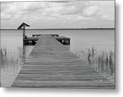 Peace And Serenity II-black And White Metal Print