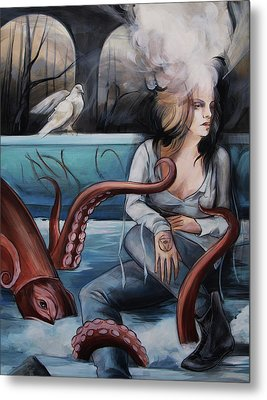 Peace And Vice Metal Print by Jacque Hudson